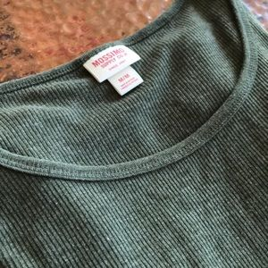 Mossimo Supply Co. Tops - {Mossimo} Ribbed Olive Long-Sleeved Top. Size M.